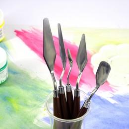 5 sztuk sztuk pięknych mieszania ze stali nierdzewnej profesjonalna paleta do malowania twarzy zestaw nóż skrobak malowanie łopa