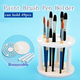 Bgln farby pędzelek do zdobień uchwyt na 49 otwory długopis stojak stojak uchwyt podporowy akwarela malarstwo pędzelek do zdobie