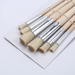 6 sztuk/zestaw 13.6*15.4 CM drewniane wzornik do świńskiego włosia szczotki drewna akwarela pędzie do farb olejnych rysunek narz