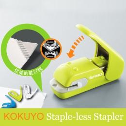 Japonia KOKUYO zszywacz bezpłatny zszywacz Harinacs naciśnij kreatywny i bezpieczne szkolne materiały papiernicze