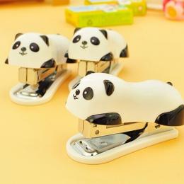 1 sztuk Mini Panda zszywacz zestaw Cartoon biuro szkolne papiernicze spinacz do papieru wiążące spoiwa, książka, kanalizacja