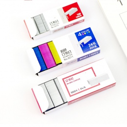 Nr 10/12 kolorowe zszywacz książki zszywki igły 1.2 cm książka zszywki 800 sztuk/pudło materiały biurowe