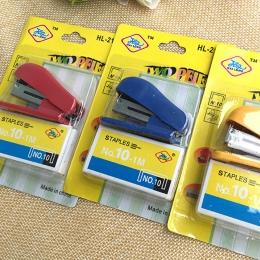 FangNymph przenośny Kawaii Super Mini mały zszywacz przydatne Mini zszywacz zszywki zestaw wiążące biurowe papiernicze losowy ko