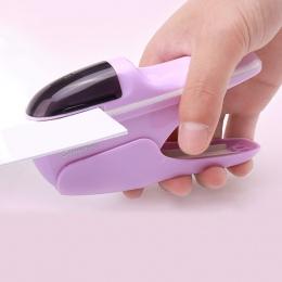Ręczny Mini bezpieczny zszywacz wolne bez szwalu bez zszywki zszywacz 7 arkuszy pojemność do papieru, zszywacz, biuro, wiążące d