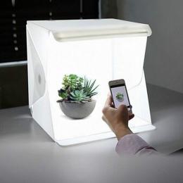 """Przenośny składany 23 cm/9 """"ulubionych fotografia LED światła pokoju zdjęcie lampa studyjna namiot miękkie pudełko tła dla cyfro"""