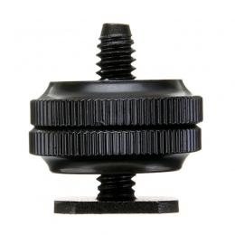 """Mayitr Pro 1/4 """"podwójne nakrętki mocowanie do statywu śruba czarny do lampy błyskowej Hot adapter do butów do aparatu Studio ak"""