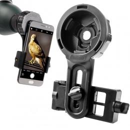 Teleskop uchwyt na telefon obiektywu szybka fotografia uchwyt adaptera stojak na lornetki okular mikroskop Spotting Scope wsparc