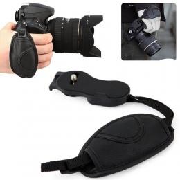 Wysokiej jakości aparat fotograficzny Correa Faux skóry ręki chwyta pasek na nadgarstek Photo Studio akcesoria do aparatów Nikon