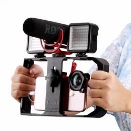 Ulanzi u-rig Pro Smartphone wideo Rig w 3 uchwyty na buty tworzenia filmów przypadku Handheld telefon stabilizator kamery uchwyt