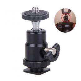 Mini kamera kołyska statyw kulowy głowy LED Light wspornik lampy błyskowej uchwyt do montażu 1/4 Cal gorąca adapter do butów z z