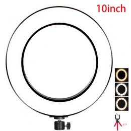 10 cal 25 cm USB naładuj nowy Selfie lampa pierścieniowa lampa błyskowa Led aparat telefon fotografia poprawy fotografii do smar
