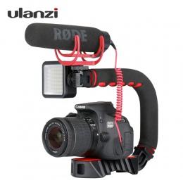 Ulanzi w kształcie litery U uchwyt Pro potrójne stopkę zamontować stabilizator kamery uchwyt wideo uchwyt aparat telefon wideo R