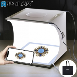 PULUZ 20 cm Mini budka foto Studio bezcieniowe światło panelu lampy Pad + Studio strzelanie namiot biały Light Box namiot Box ze