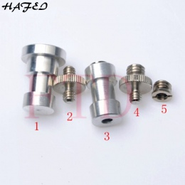 HAFEI 5In1 1/4 do 3/8 męski na żeński adapter śruba statyw kamery głowica kulowa monopod flash lekki statyw akcesoria do montażu