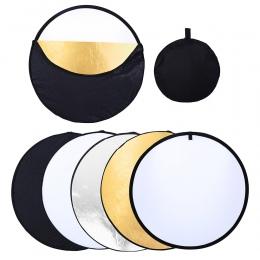 80 cm PRO 5 w 1 przenośny składany Photo Studio składany Multi-Disc światło fotograficzne odbłyśnik