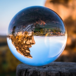 50/60/70/80/90/100/110mm fotografia kryształ soczewki piłka azji kwarcowy jasne magiczne szkło kulka w/przenośna torba do fotogr
