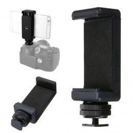 """Mayitr wysokiej jakości 1/4 """"telefon zacisk mocujący + czarny Hot Shoe uchwyt adaptera do aparatu DSLR 58 do 88mm komórek telefo"""