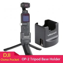 ULANZI OP-2 statyw baza do ładowania uchwyt stały stojak 1/4 ''śruba z portem USB typu C dla DJI Osmo kieszonkowy aparat
