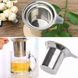 Herbaty siatki zaparzacz wielokrotnego użytku sitko do herbaty czajniczek ze stali nierdzewnej herbata liściasta Spice filtr Dri