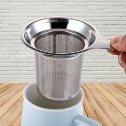 Wielokrotnego użytku ze stali nierdzewnej zaparzacz sitkowy do herbaty sitko do herbaty czajniczek herbata liść Spice filtr Drin