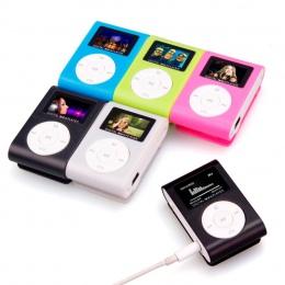 Nowe Top sprzedaż moda Mini mp3 USB klip MP3 odtwarzacz podpórka ekranu LCD Micro SD o pojemności 32 GB TF CardSlick stylowy des