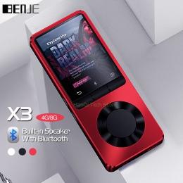 BENJIE X3 metalu Bluetooth MP3 przenośny odtwarzacz Audio 4 GB 8 GB odtwarzacz muzyczny z wbudowany głośnik radio FM, rejestrato