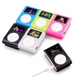 New2018 w nowym stylu klips mini USB MP3 odtwarzacz podpórka ekranu LCD 32 GB Micro karta SD TF mp3 odtwarzacz mini wspomnienia