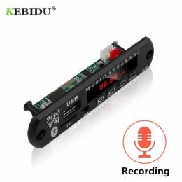 KEBIDU dekodowanie moduł tablicy Bluetooth MP3 LED 12 V DIY USB TF Radio FM moduł bezprzewodowy Bluetooth dekoder rekord MP3 odt
