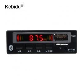 Kebidu Car Audio USB TF Radio FM moduł bezprzewodowy Bluetooth 5 V 12 V MP3 WMA dekoder pokładzie MP3 odtwarzacz z pilot zdalneg