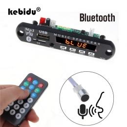 Kebidu Bluetooth zestaw głośnomówiący zestaw samochodowy 5 V-12 V MP3 odtwarzacz TF USB 3.5 Mm AUX dekoder dźwięku pokładzie FM