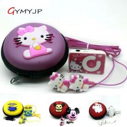 Nowy mini klip hello Kitty MP3 odtwarzacz obsługuje karty TF z Słuchawki z kablem USB pudełko kryształowe darmowa wysyłka handel