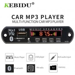 Kebidu 5 V 12 V MP3 odtwarzacz dekoder pokładzie Bluetooth MP3 pokładzie dekoder zestaw samochodowy Radio FM TF USB 3.5mm WMA od