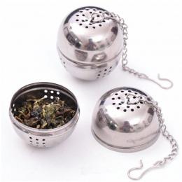 Nowe podstawowe kulkowe ze stali nierdzewnej zaparzaczem siatki filtr siatkowy w/hak herbata liściasta przyprawa do domu akcesor