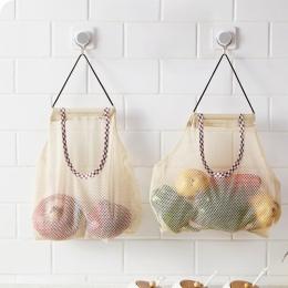 Kreatywna kuchnia warzywa cebula ziemniaków przechowywania torba do zawieszenia Hollow oddychająca torba z siatki Ginger Mesh to