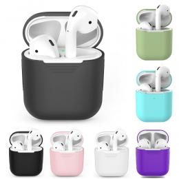 TPU silikonowa bezprzewodowa Bluetooth etui na słuchawki dla AirPods 1 pokrywa ochronna skóry akcesoria dla Apple AirPods 2nd ok