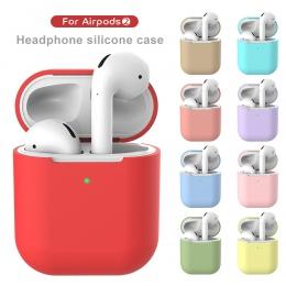 Etui na słuchawki dla Apple AirPods 2 pokrywa silikonowa bezprzewodowe słuchawki Bluetooth powietrze pokrowiec ochronny do AirPo
