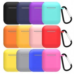Mini miękkie silikonowe etui do Apple Airpods, odporna na wstrząsy pokrywa dla Apple AirPods przypadki słuchawek Ultra cienki po