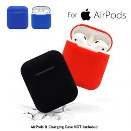 Dla AirPods silikon skrzynki pokrywa skóra ochronna dla Apple Airpod przypadku ładowania słuchawki sportowe fone de ouvido upuść