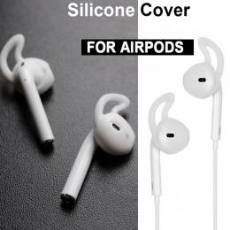 Nowy dla Apple AirPods wymiana miękkiego silikonu antypoślizgowa nakładka osłona uszu hak bluetooth słuchawki douszne wskazówki