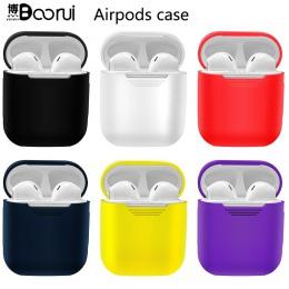 BOORUI miękkie silikonowe etui Airpods odporny na wstrząsy pokrywa dla Smart słuchawki Airpods Ultra cienki powietrza strąków Pr