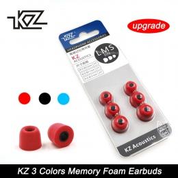 KZ nowa aktualizacja oryginalny 3 para (6 sztuk) hałasu izolowanie wygodne pamięci piankowe końcówki douszne Wkładki do uszu słu