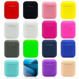 TPU miękki futerał silikonowy do Apple Airpods, odporna na wstrząsy pokrywa dla Apple AirPods przypadki słuchawek Ultra cienki p