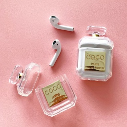 2019 perfumy butelki silikonowe etui do Airpods słuchawki ochronne Case luksusowe odporny na wstrząsy i spadek wyczyść miękka TP
