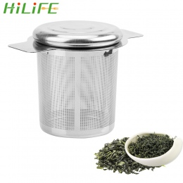 HILIFE zaparzacze do herbaty z 2 uchwyty kosz wielokrotnego użytku drobnych oczkach sitko do herbaty pokrywy do herbaty i filtry