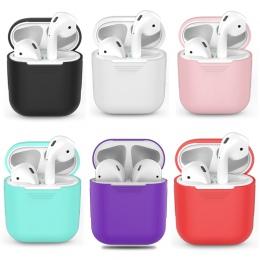 Silikonowe etui ochronne etui do AirPods, odporna na wstrząsy ucha pod etui do Apple słuchawki Capa dla przypadku Airpods akceso