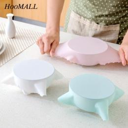 Hoomall pojemnik silikonowy na żywnosć pokrywa praktyczne wielokrotnego użytku wielofunkcyjny lodówka maty maty Saran przylegają
