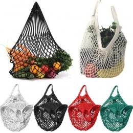Siatkowa torba na zakupy żółta torba na zakupy wielokrotnego użytku torby do przechowywania owoców torebki nowy 122