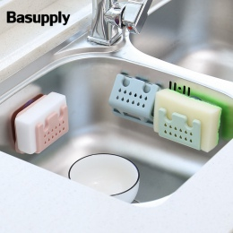 Basupply 1 Pc gąbka stojak do przechowywania mydła uchwyt z przyssawką składany odpływ zlewu kuchennego organizator półka łazien