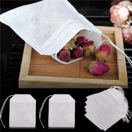 100 sztuk/partia torebki 5.5x7 CM puste torebki herbaty zaparzaczem z String Heal Seal filtr papier do Herb luźne herbaty Bolsas