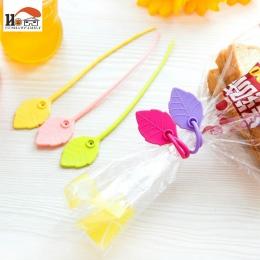 5 sztuk/partia nowa gorąca sprzedaż gospodarstwa domowego praktyczne kolor liści kształt 17 cm przewód silikonowy kabel krawat ż